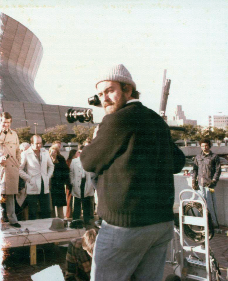 Superbowl 1978;  that's my Ikegami HL 33 Camera. I think I shot two or three stand ups for the pre-game, and then some shots of the crowd going in, and the rest of my shots were lock-downs of the outside of the Superdome for breaks. My crew watched the game on TV. (HL stands for handi-lookie, I promise it does.)